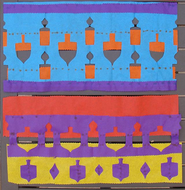 Hanukkah Tissue Paper Decorations