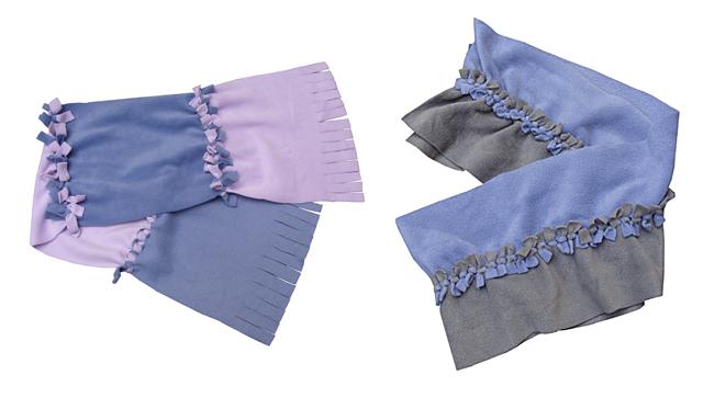 No Sew Fleece Scarves