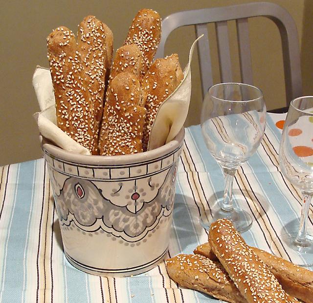 Whole Wheat Mini Baguettes