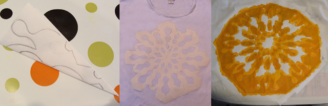 Freezer paper stenciling how to