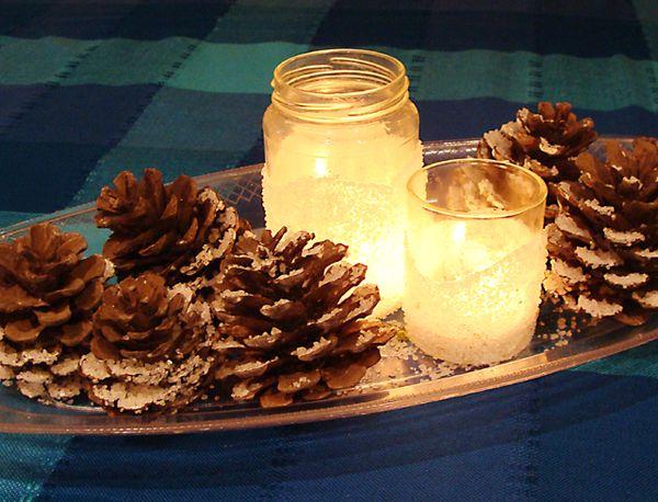 A Kosher Salt Snowstorm Snowdrift Luminary Amp Pinecone