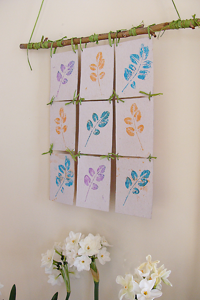 Stamp Pad Leaf Printing Make A Wall Hanging Creative Jewish Mom
