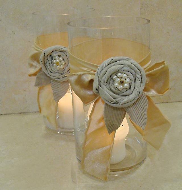 Rolled Rag Flowers For sheva brachas2