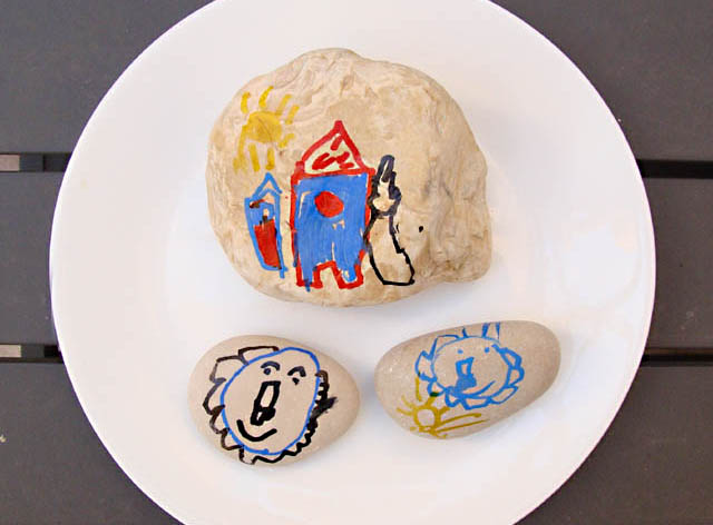 Rock Painting-Doodling Kid's craft