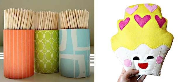 Cupcake softie retro tookpick holders