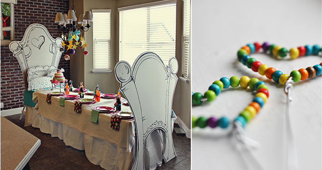 Night Owl B-Day party, bead hearts