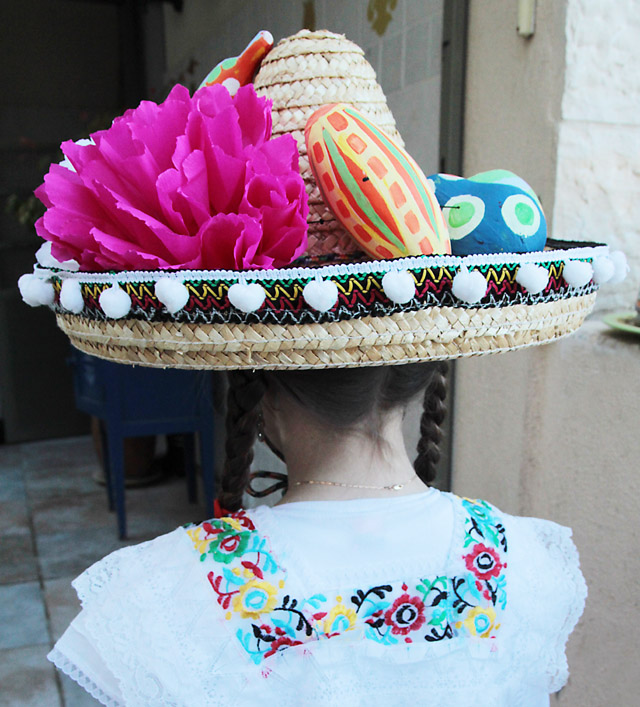 Mexican Hat With Fruit Worn