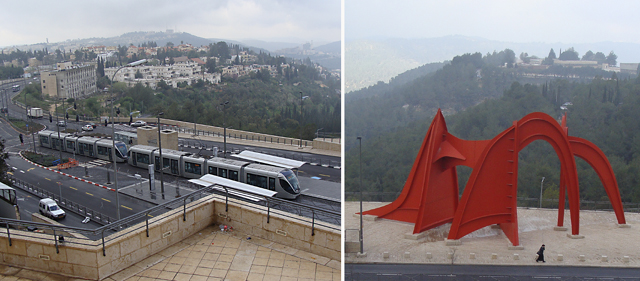 Jerusalem New Train +Calder sculpture