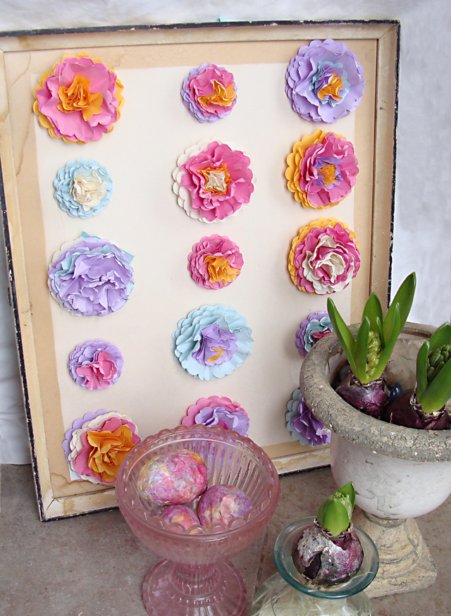 Paper Flower Wall Art For Spring