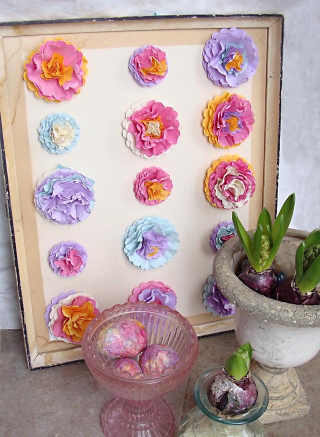 Paper Flower Wall Art For Spring
