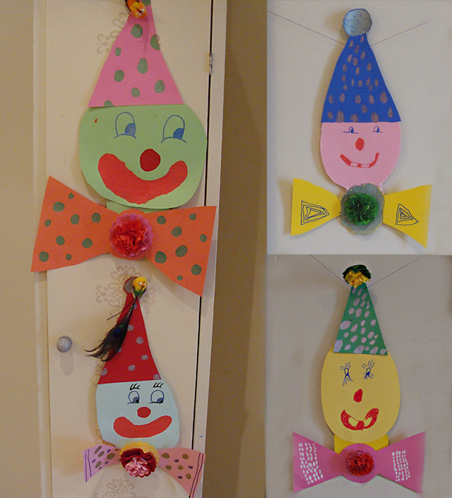 Paper Clowns for Purim