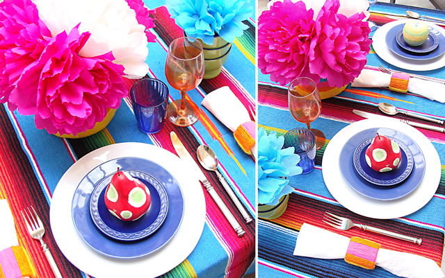 Mexican Purim Fiesta Table Setting-composite & Setting The Table For A Mexican-Style Fiesta u2014For Purim or Anytime ...