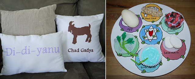 Passover Pillows, fun seder plate craft