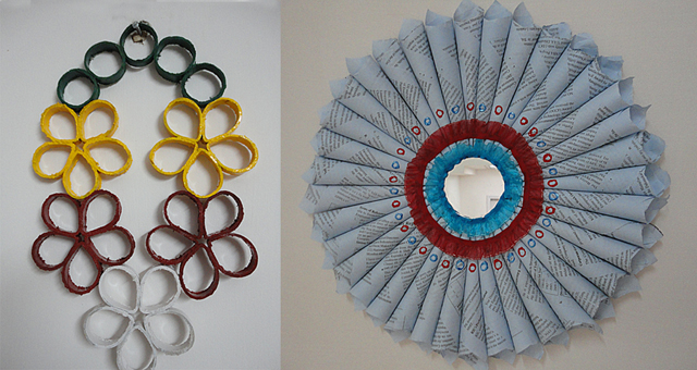 Bookpage wreath toilet paper tube wreath