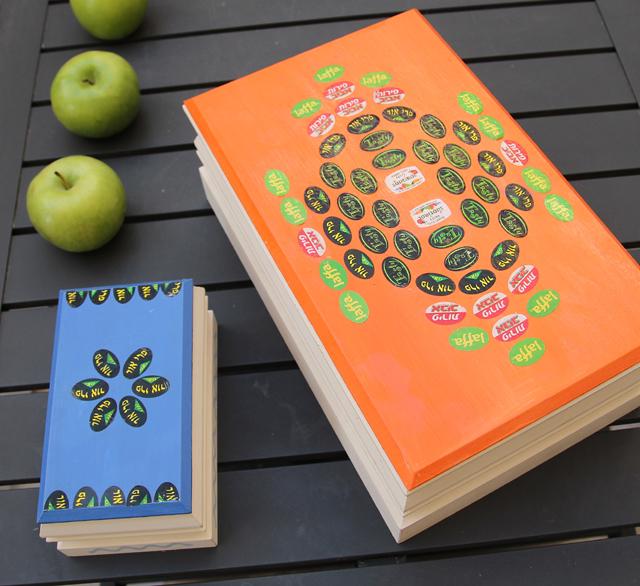 Fruit Sticker Decoupaged Boxes