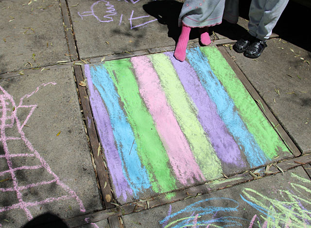 Vacation Crafts- Sidewalk Chalk Art