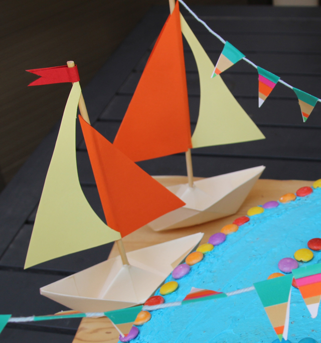 Paper Boat Party Decorations