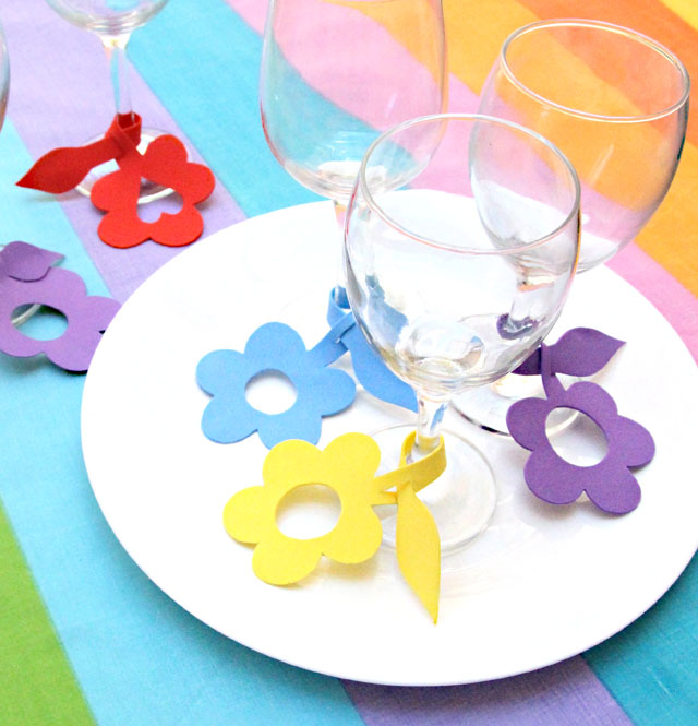 Wine charms craft foam