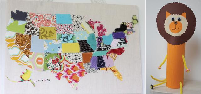 US Map applique,tube lion