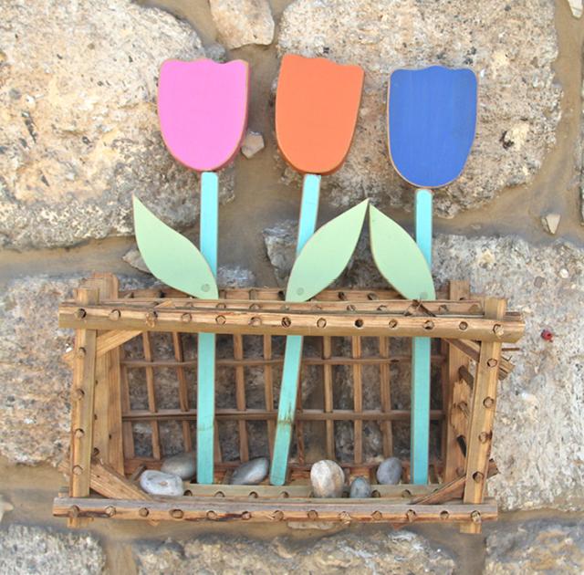Wooden tulips