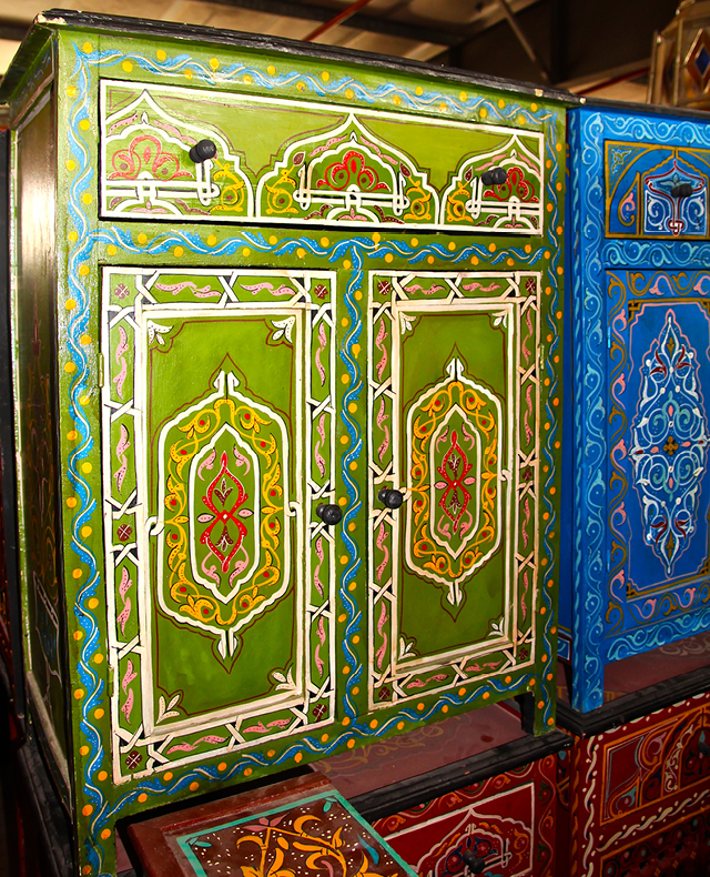 Moroccan Painted Cabinets3