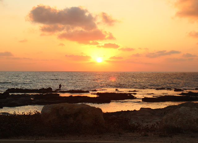 Nahariya Coast at Sunset