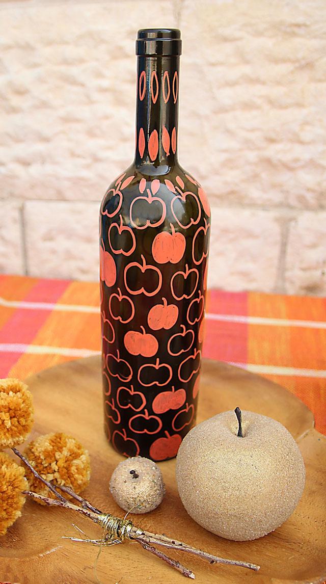 Wine Bottle Vase For Fall 4 creative