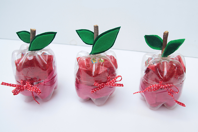 Plastic Bottle Apples For Teacher