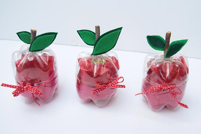 Plastic Bottle Apples For Teacher