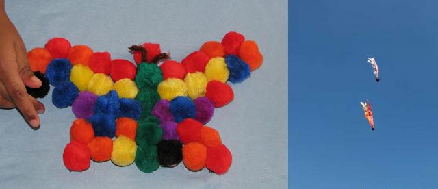 Pom pom magnet crafts,chesnut balls