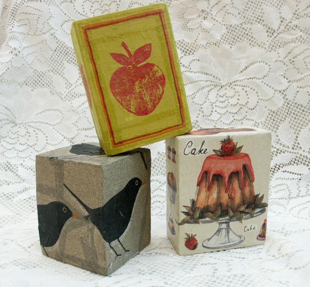 Paper Mache Baby Blocks