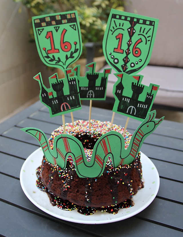 Castle Birthday Cake With Loch Nes Monster