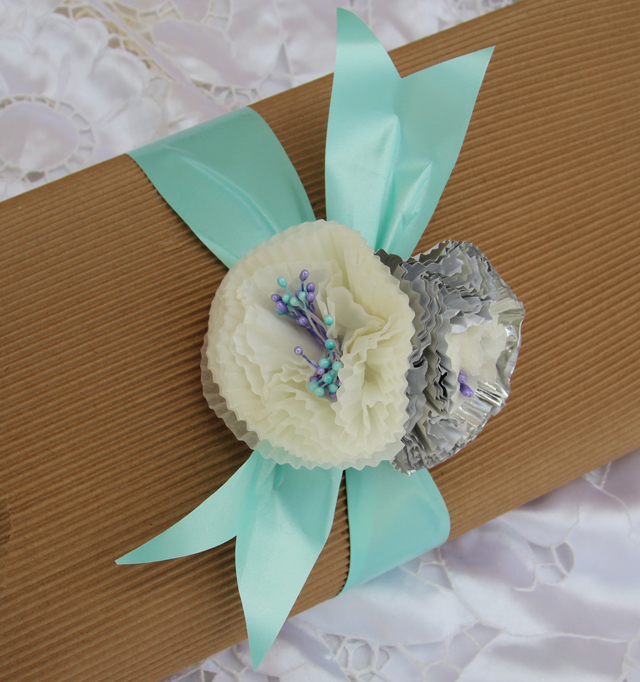 Cupcake Liner Flower Present Topper