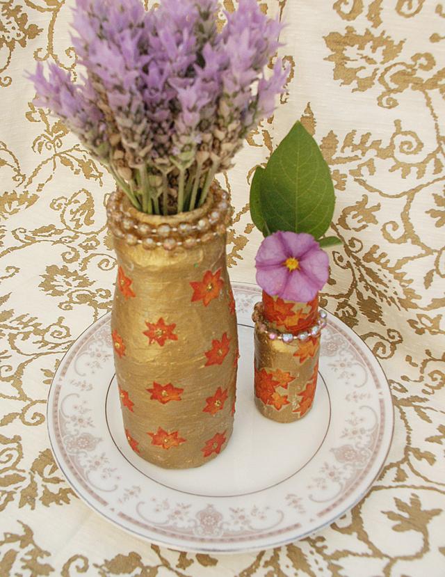 Paper Mache small vases