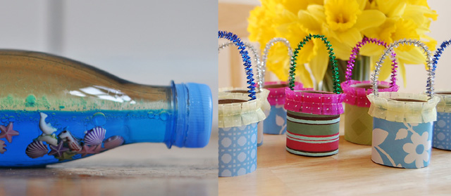 Ocean in a bottle, tp roll baskets
