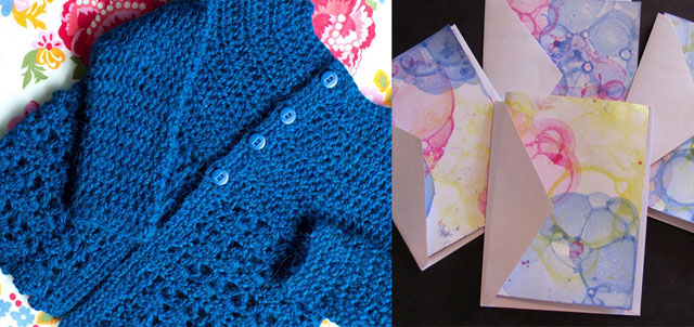 Crocheted Picot Lace Sweater