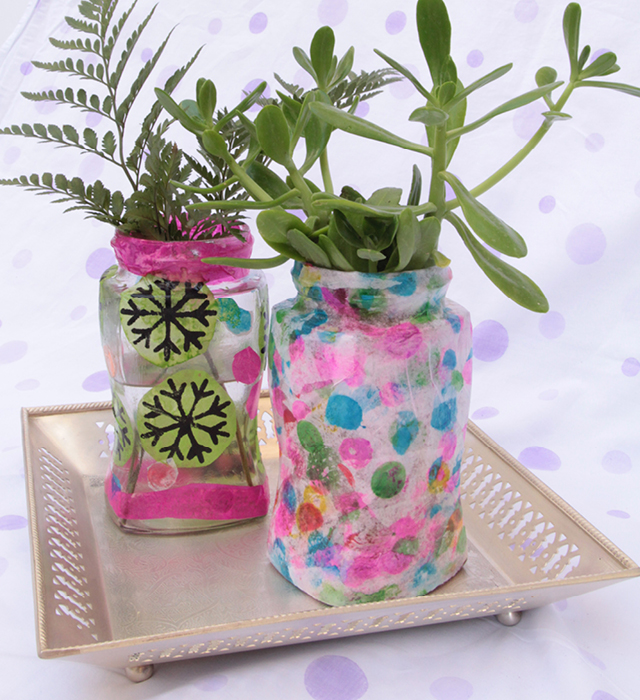 Printed Tissue Paper Covered Jars4
