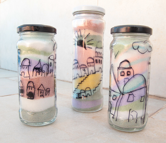 Chalk Colored Salt Kid's Craft