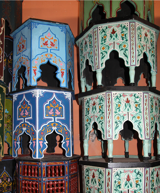 Moroccan painted tables