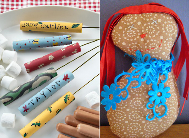 Stuffed doll project, campfire skewers
