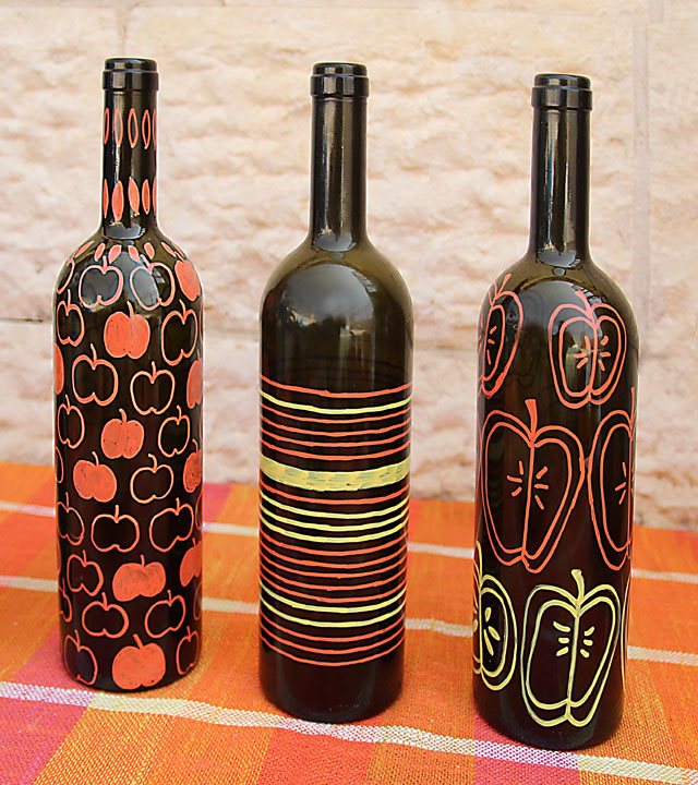 Wine Bottle Vases For Fall