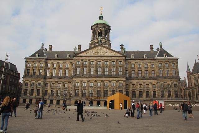 Amsterdam royal palace at dam square
