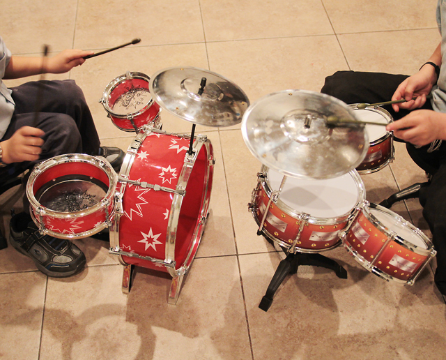 Drum Sets and boys