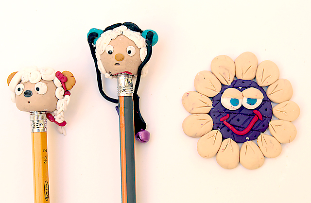 Polymer Clay Pencil toppers