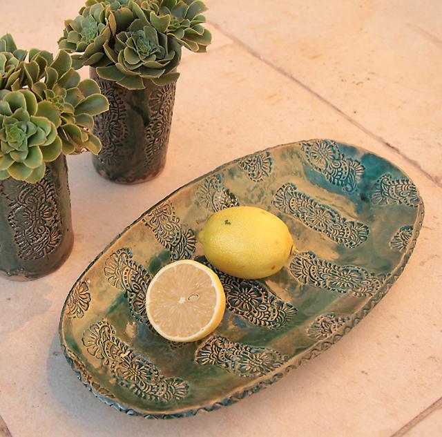 Ceramic hand built platter
