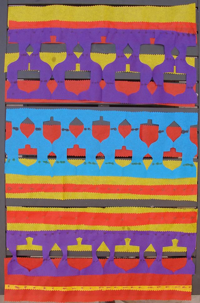 Chanukah Tissue Paper Patterns