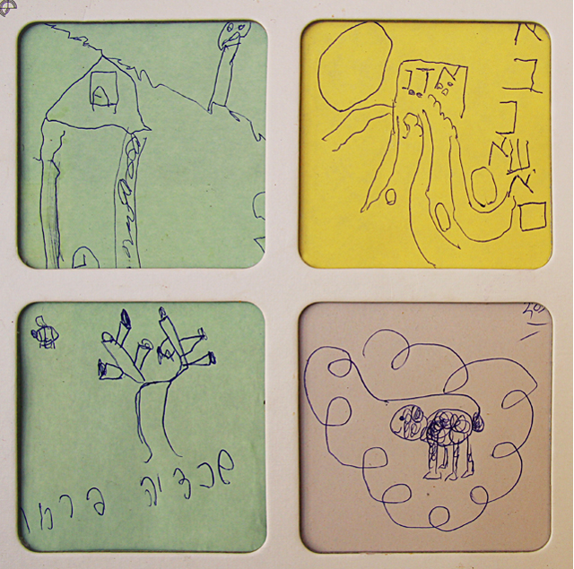 Memo Pad Drawing Exercise For Kids Close Up