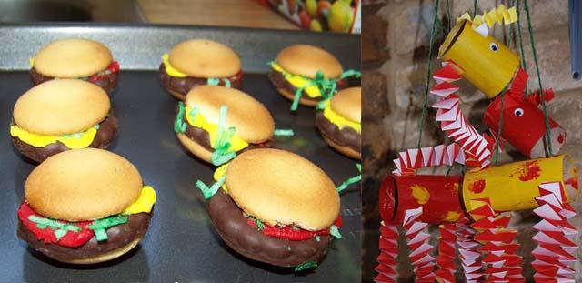 Tp tube giraffesand hamburger sandwhich cookies