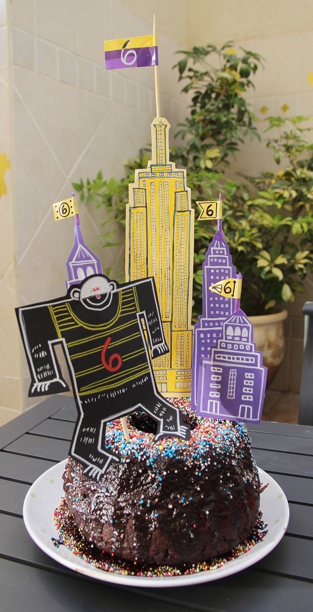 Empire State Building King Kong Birthday Cake