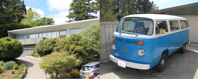 Architecture Berkeley 60's modern, VW bus